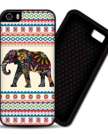elephant aztec pattern iphone 5 5s PREMIUM CASE COVER