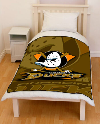 anaheim ducks throw fleece blanket