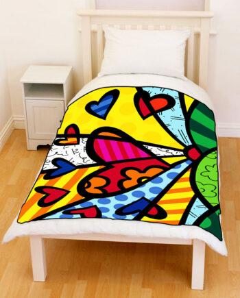 Britto Romero Love Sunshine throw fleece blanket