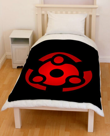 Naruto Madara Mangekyou Sharingan Throw Fleece Blanket