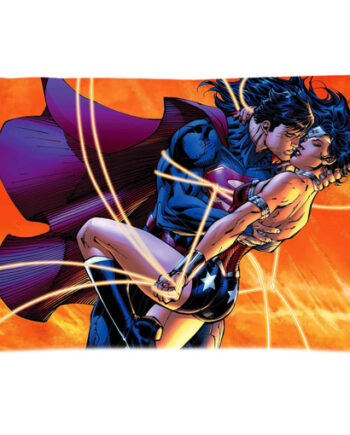 Superman Wonder Woman Kissing Pillow Case Cover 001