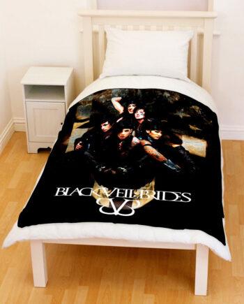 BVB Black Veil Brides Fleece Throw Blanket 003