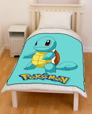 Pokemon Adventure Squirtle Blue Cute Fleece Throw Blanket1