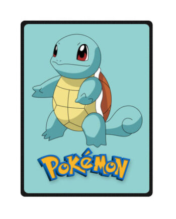 Pokemon Adventure Squirtle Blue Cute Fleece Throw Blanket1a