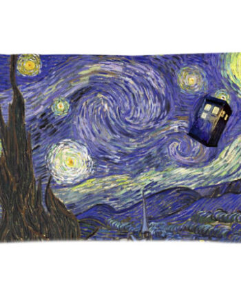Tardis Doctor Who Van Gogh Starry Night Pillow Case Cover