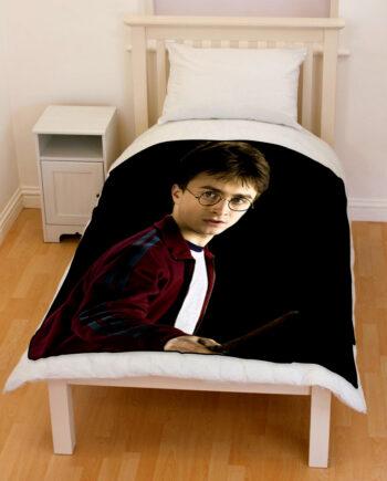 harry potter bed throw fleece blanket