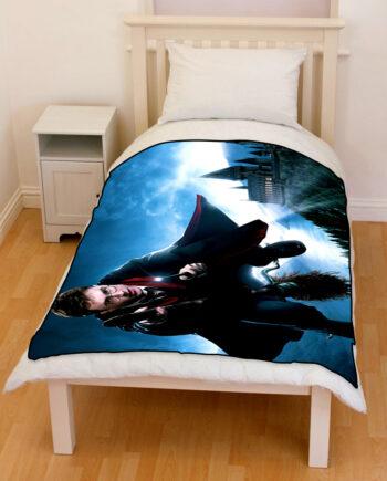 Harry Potter Broomstick Nimbus Throw Fleece Blanket