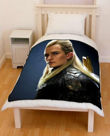 The hobbit legolas throw fleece blanket