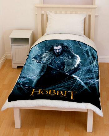 the hobbit thorin oakenshield throw fleece blanket
