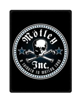 Motley Crue Logo throw fleece blanket