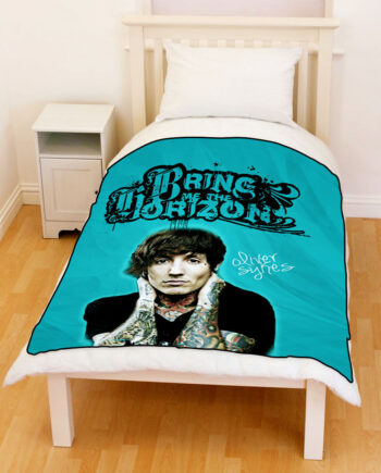 oliver sykes bring me the horizon throw fleece blanket
