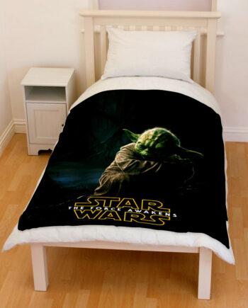 star wars yoda bedding throw fleece blanket