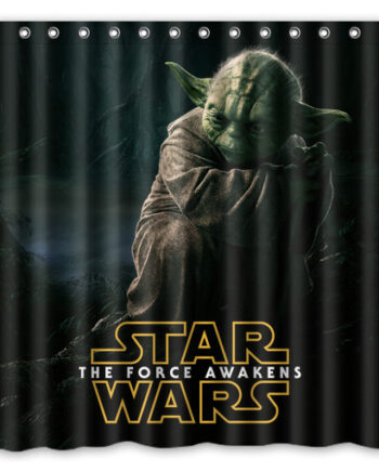 star wars yoda shower curtain