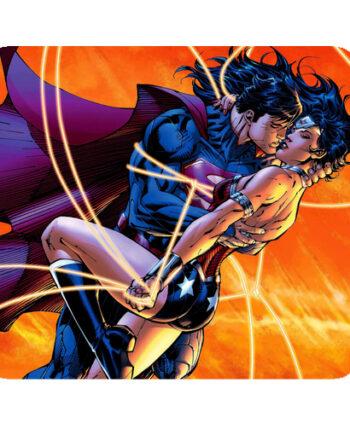 superheroes superman wonder woman mousepad