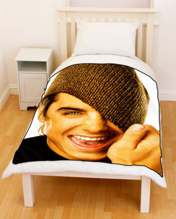 zac efron throw fleece blanket