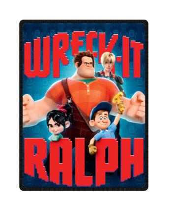 wreck it ralph throw fleece blanket