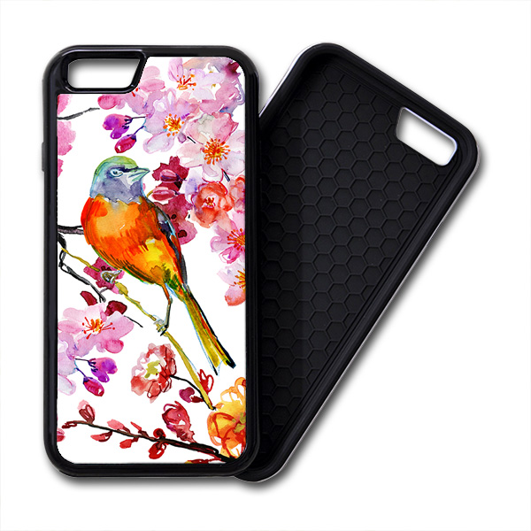 Bird & Flowers iPhone PREMIUM CASE COVER