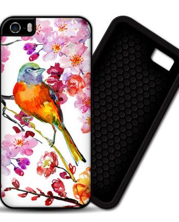 Bird & Flowers iPhone 5 5S PREMIUM CASE COVER