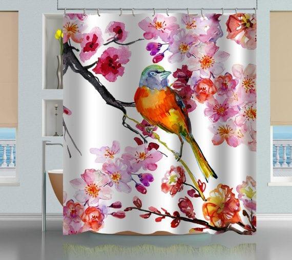 Bird & Flowers Shower Curtain