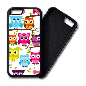 Colorful Owls iPhone PREMIUM CASE COVER