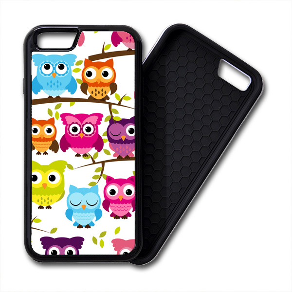 Colorful Owls iPhone PREMIUM CASE COVER