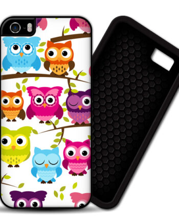 Colorful Owls iPhone 5 / 5S PREMIUM CASE COVER