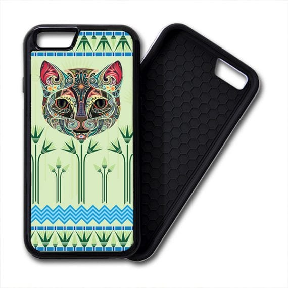 Egyptian Papyrus Floral Cat iPhone PREMIUM CASE COVER