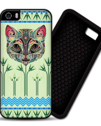 Egyptian Papyrus Floral Cat iPhone 4 / 4S PREMIUM CASE COVER