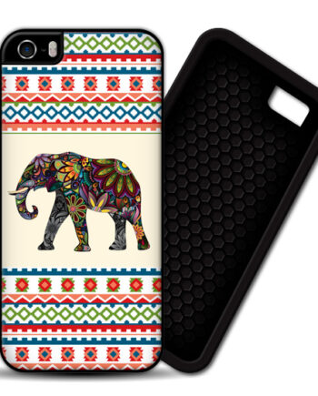 Floral Elephants Aztec Pattern iPhone 4 4S 5 5S PREMIUM CASE COVER