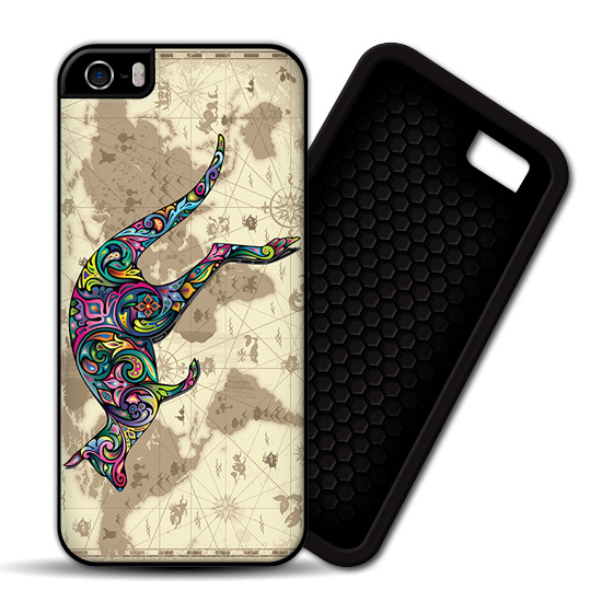 Floral Kangaroo World Map iPhone PREMIUM CASE COVER