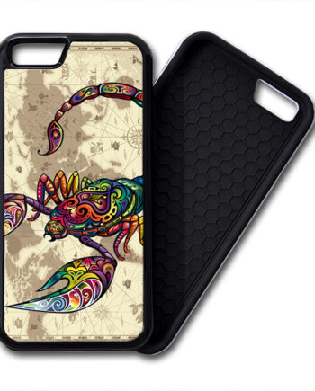 Floral Scorpion World Map iPhone 6 / 6 Plus PREMIUM CASE COVER