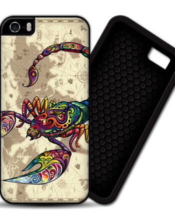 Floral Scorpion World Map iPhone 5 / 5S PREMIUM CASE COVER
