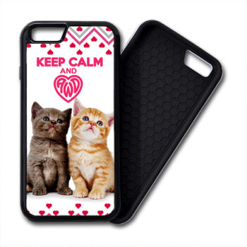 Keep Calm & Love Kittens PREMIUM iPhone case cover