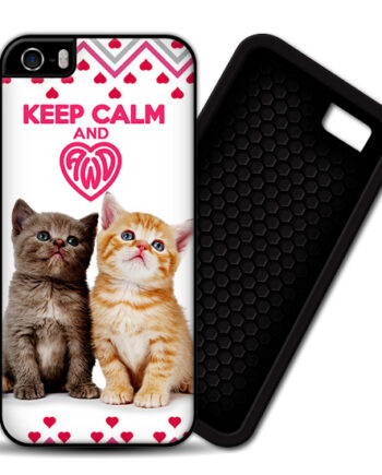 Keep Calm & Love Kittens iPhone 5 / 5S PREMIUM CASE COVER