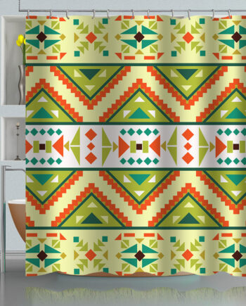 Mayan Aztec Tribal Pattern Shower Curtain
