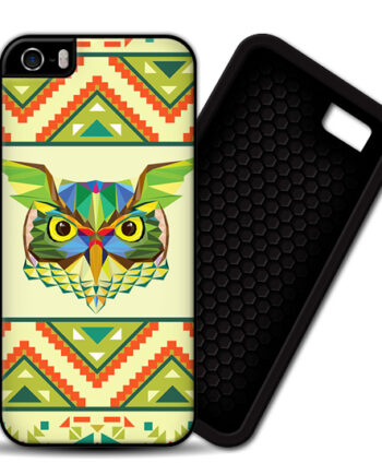 Owls Aztec Geometric Pattern iPhone 5 / 5S PREMIUM CASE COVER