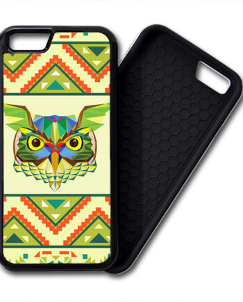 Owls Aztec Geometric Pattern iPhone PREMIUM CASE COVER