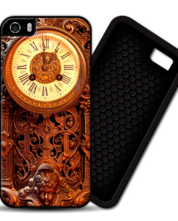 Retro Clock Wood iPhone 5 / 5S PREMIUM CASE COVER