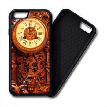 Retro Clock Wood iPhone PREMIUM CASE COVER