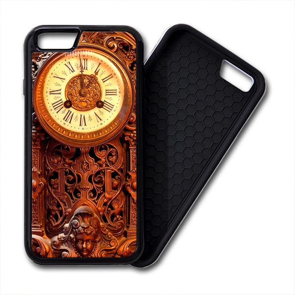 Retro Clock Wood iPhone PREMIUM CASE COVER