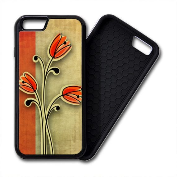 Retro Vintage Flowers iPhone PREMIUM CASE COVER