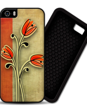 Retro Vintage Flowers iPhone 4 / 4S PREMIUM Case Cover