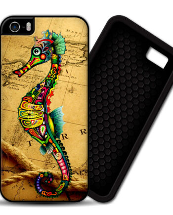 Seahorse Vintage Map iphone 4 4s PREMIUM CASE COVER