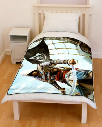 assassin's creed black flag bedding throw fleece blanket