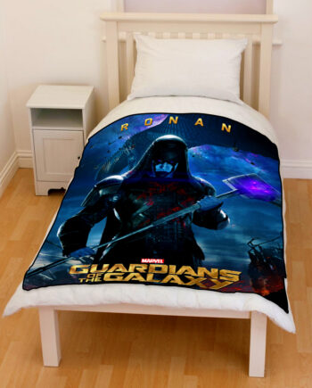 guardians of the galaxy ronan bedding throw fleece blanket