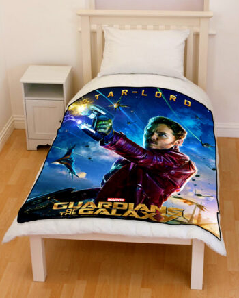 guardians of the galaxy star lord bedding throw fleece blanket