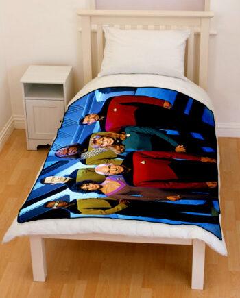 star trek next generation bedding throw fleece blanket