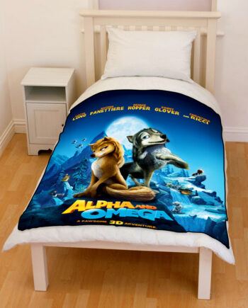 alpha and omega bedding throw fleece blanket