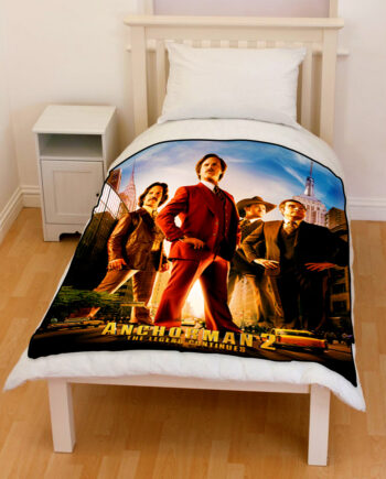 anchorman the legend continues bedding throw fleece blanket
