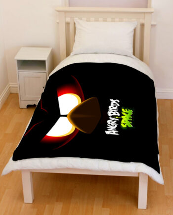 angry birds space bedding throw fleece blanket